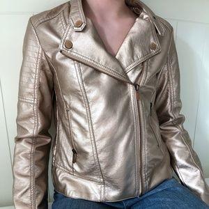 Gold Metallic Girls Jacket
